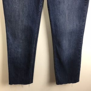 Free People Jeans - Free People Jeans with Raw hem and Red rose design